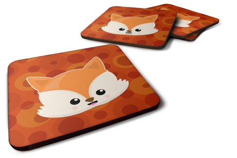Buy this Baby Fox Face Polkadots Foam Coaster Set of 4 BB7089FC