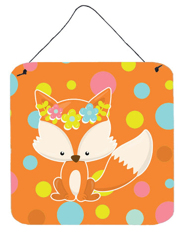 Buy this Baby Fox Flowerchild Polkadots Wall or Door Hanging Prints BB7091DS66