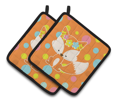 Buy this Baby Fox Flowerchild Polkadots Pair of Pot Holders BB7091PTHD