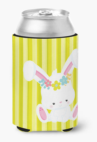 Buy this Easter White Rabbit with Flowers Can or Bottle Hugger BB7093CC