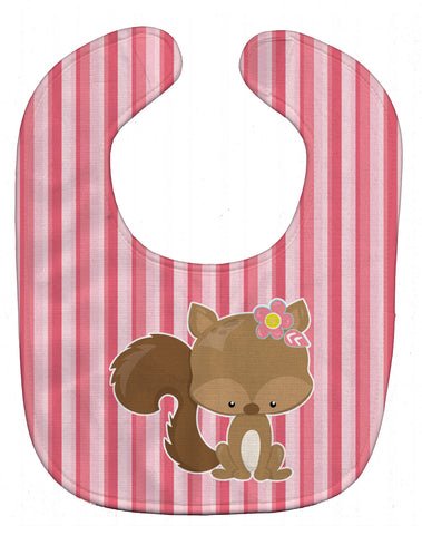 Buy this Squirrel with Flowers Baby Bib BB7094BIB