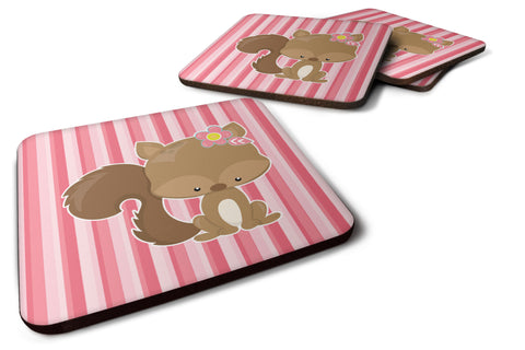 Buy this Squirrel with Flowers Foam Coaster Set of 4 BB7094FC