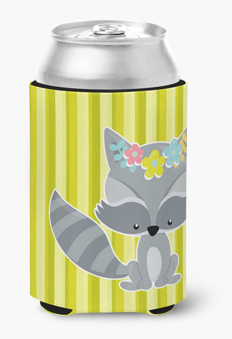 Buy this Raccoon with Flowers Can or Bottle Hugger BB7095CC