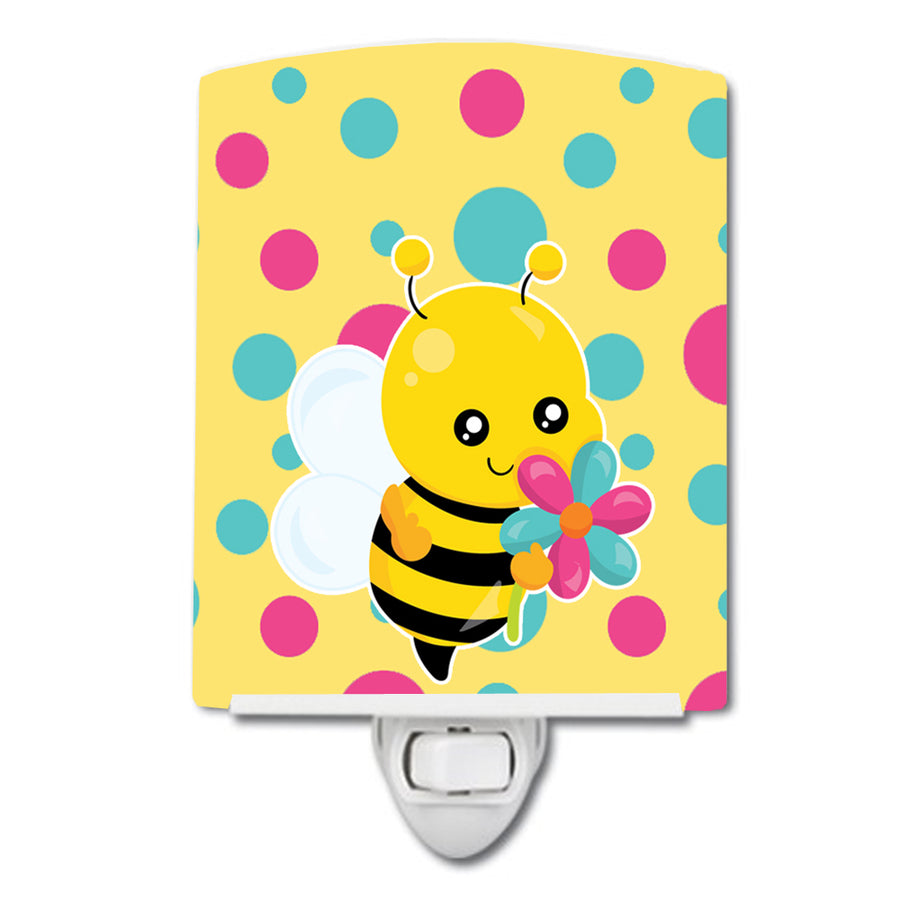 Buy this Bee with Flower Ceramic Night Light BB7097CNL