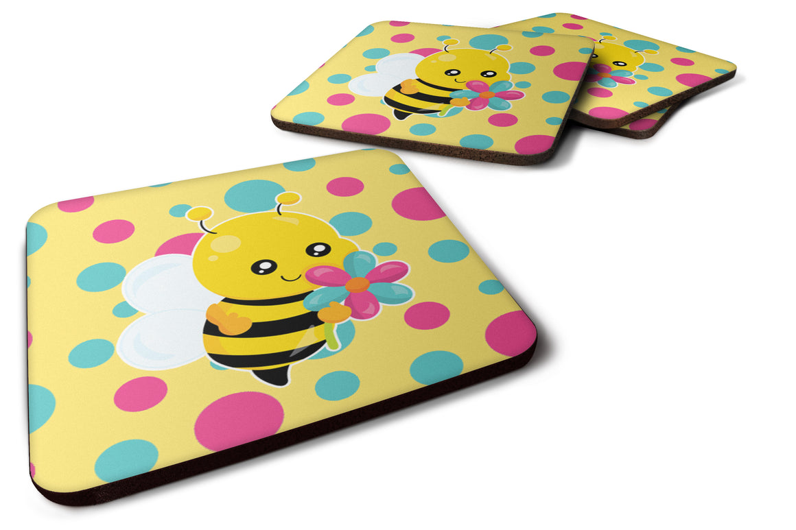 Buy this Bee with Flower Foam Coaster Set of 4 BB7097FC