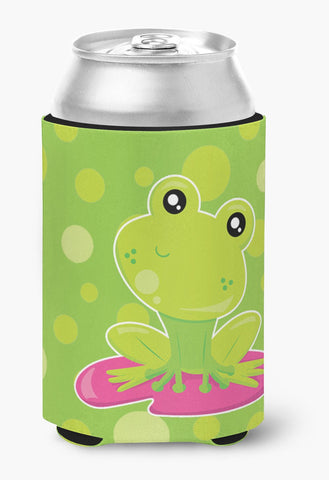 Buy this Frog on Lily Pad Green Polkadots Can or Bottle Hugger BB7098CC