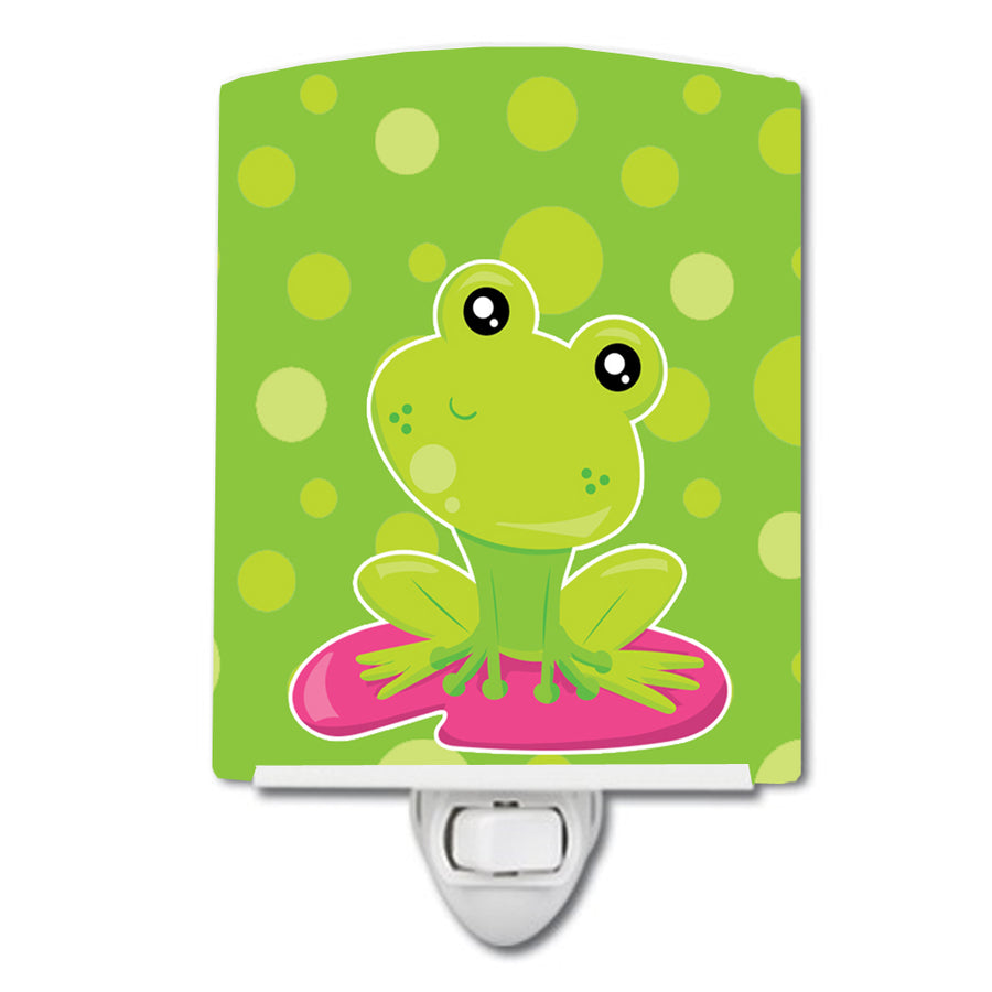 Buy this Frog on Lily Pad Green Polkadots Ceramic Night Light BB7098CNL