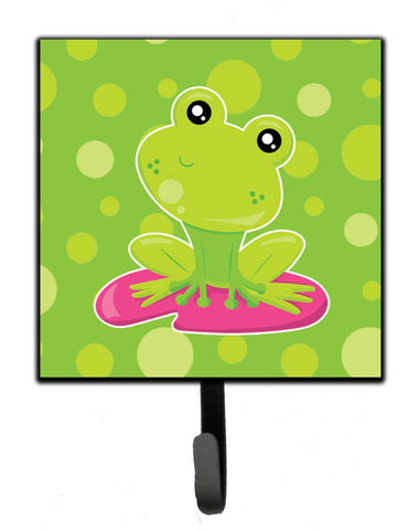 Buy this Frog on Lily Pad Green Polkadots Leash or Key Holder BB7098SH4