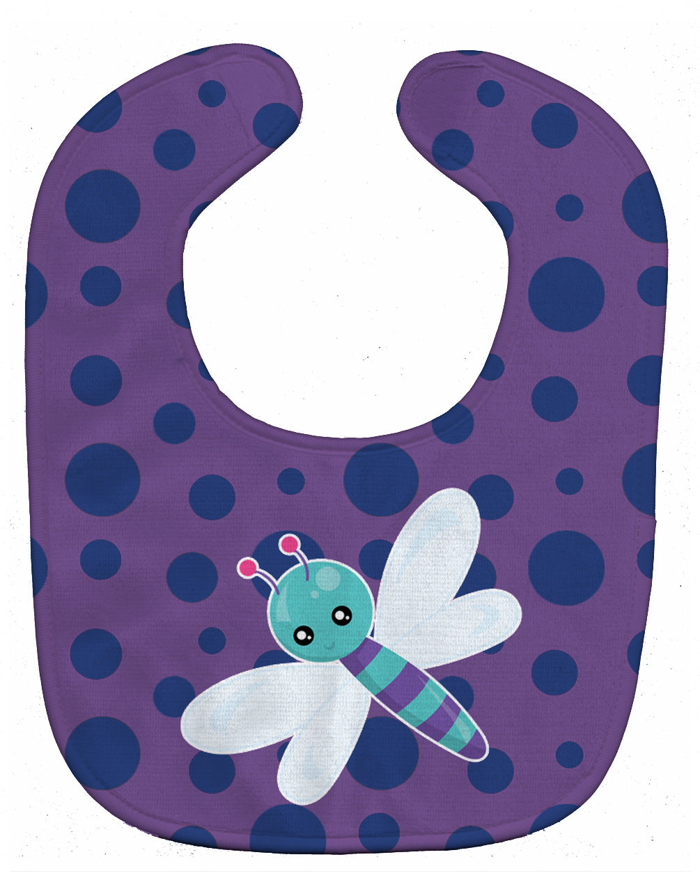 Dragonfly on Purple Polkadots Baby Bib BB7099BIB by Caroline's Treasures