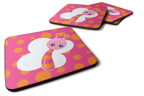 Buy this Butterfly on Polkadots Foam Coaster Set of 4 BB7102FC
