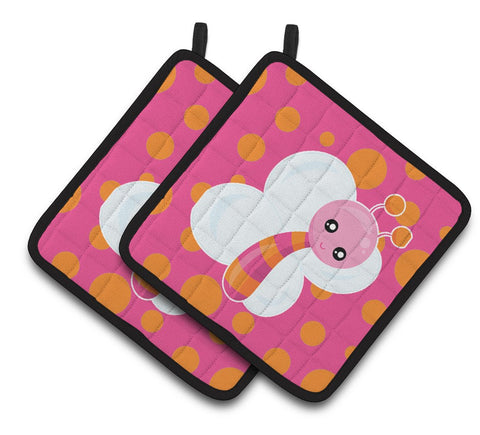 Buy this Butterfly on Polkadots Pair of Pot Holders BB7102PTHD