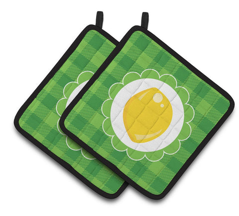 Buy this Lemon Pair of Pot Holders BB7107PTHD