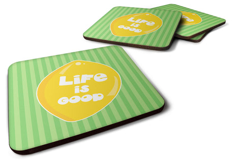 Buy this Lemon Life is Good Foam Coaster Set of 4 BB7108FC