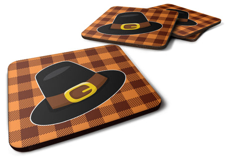 Buy this Thanksgiving Pilgrim Hat Foam Coaster Set of 4 BB7112FC
