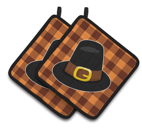 Buy this Thanksgiving Pilgrim Hat Pair of Pot Holders BB7112PTHD