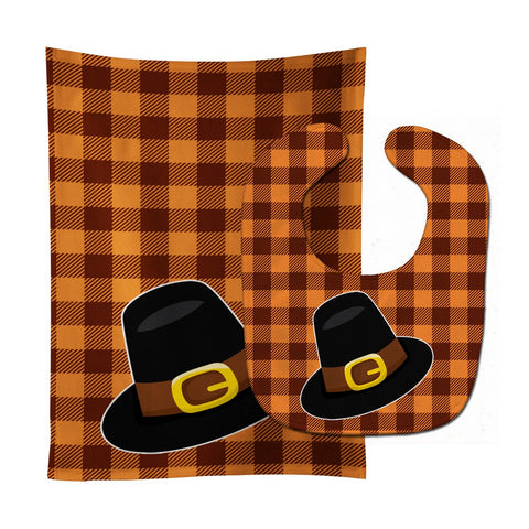 Buy this Thanksgiving Pilgrim Hat Baby Bib & Burp Cloth BB7112STBU