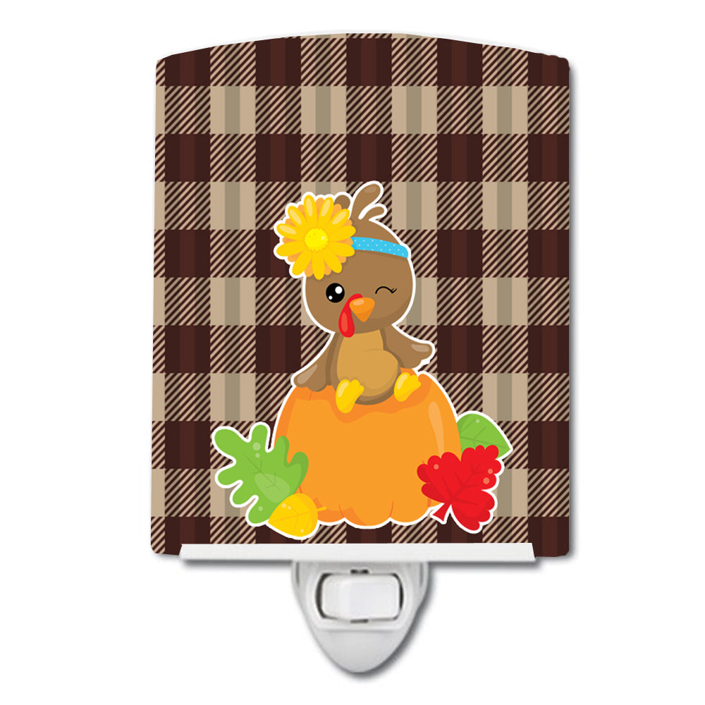 Thanksgiving Baby Turkey Ceramic Night Light BB7113CNL by Caroline's Treasures