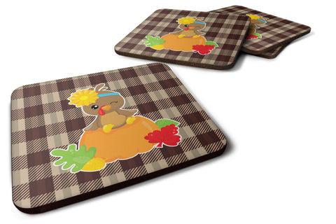 Buy this Thanksgiving Baby Turkey Foam Coaster Set of 4 BB7113FC