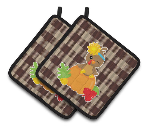 Buy this Thanksgiving Baby Turkey Pair of Pot Holders BB7113PTHD