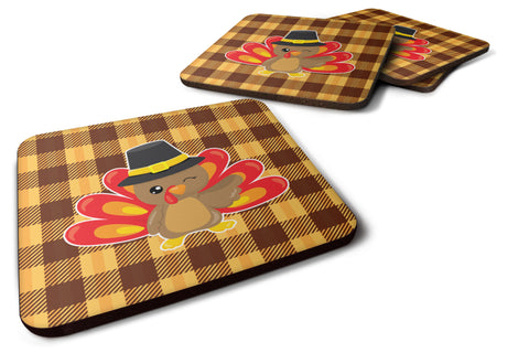 Buy this Thanksgiving Turkey Wink Foam Coaster Set of 4 BB7114FC