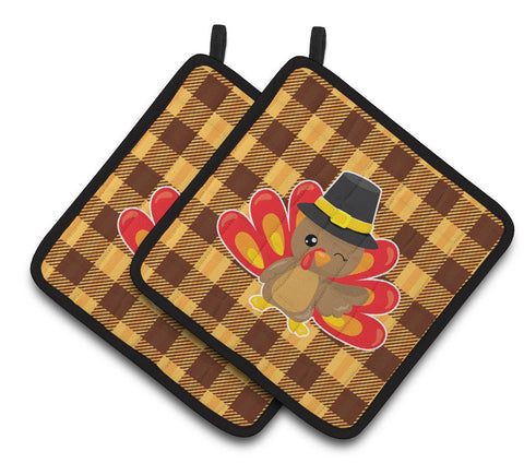 Buy this Thanksgiving Turkey Wink Pair of Pot Holders BB7114PTHD