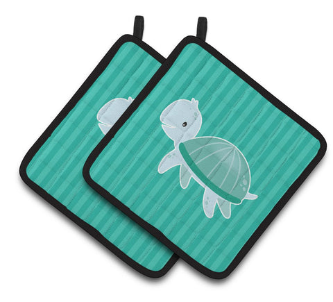 Buy this Sea Turtle Pair of Pot Holders BB7117PTHD