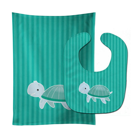 Buy this Sea Turtle Baby Bib & Burp Cloth BB7117STBU