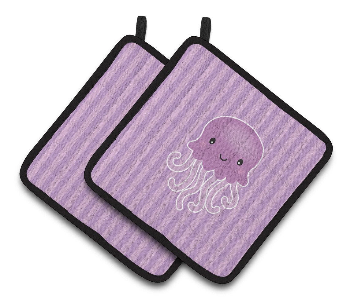 Jellyfish Pair of Pot Holders BB7122PTHD by Caroline's Treasures