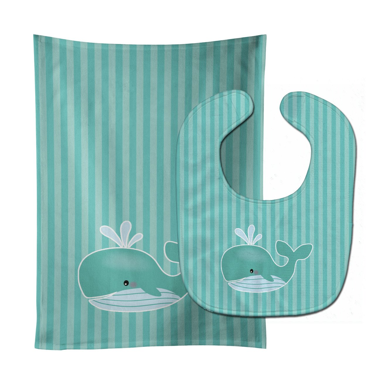Whale Baby Bib & Burp Cloth BB7125STBU by Caroline's Treasures