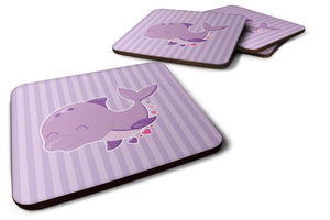 Buy this Purple Dolphin Foam Coaster Set of 4 BB7132FC