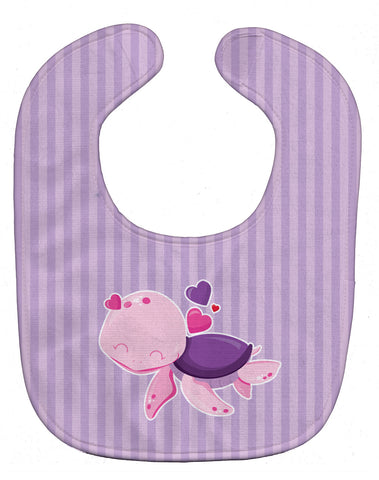Buy this Pink and Purple Turtle Baby Bib BB7133BIB