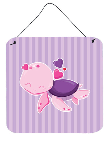 Buy this Pink and Purple Turtle Wall or Door Hanging Prints BB7133DS66