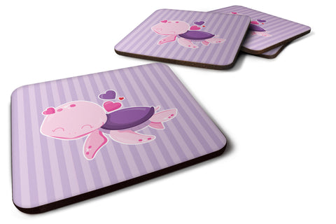 Buy this Pink and Purple Turtle Foam Coaster Set of 4 BB7133FC