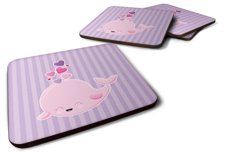 Buy this Pink Whale Foam Coaster Set of 4 BB7134FC