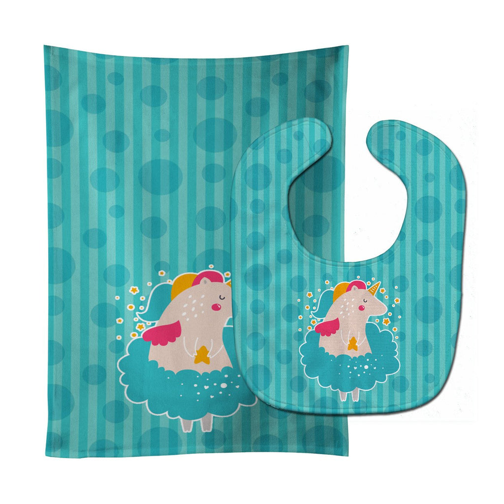 Buy this Unicorn Ballerina Baby Bib & Burp Cloth BB7135STBU