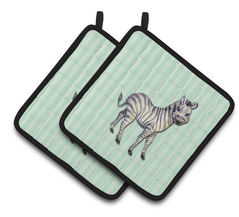 Buy this Zebra Pair of Pot Holders BB7143PTHD