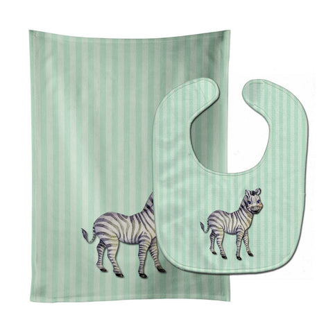 Buy this Zebra Baby Bib & Burp Cloth BB7143STBU