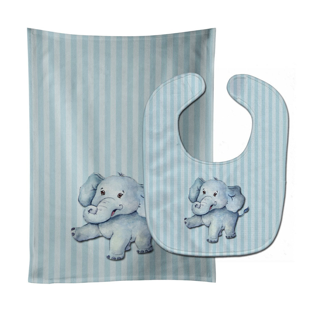 Buy this Elephant Baby Bib & Burp Cloth BB7145STBU