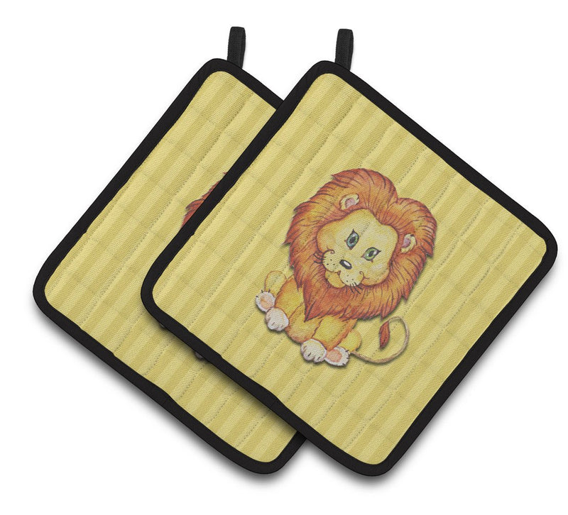 Buy this Lion Pair of Pot Holders BB7146PTHD