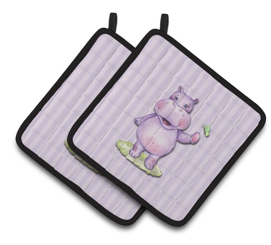 Buy this Hippopotamus Pair of Pot Holders BB7147PTHD
