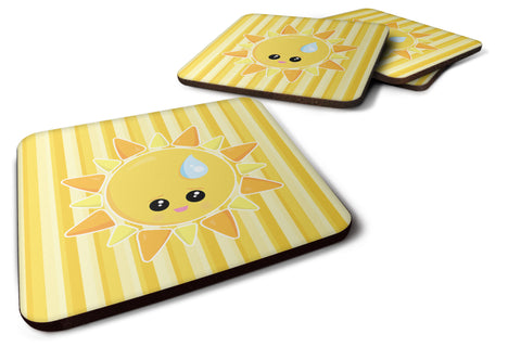 Buy this Weather Sun Sprinkle Face Foam Coaster Set of 4 BB7150FC
