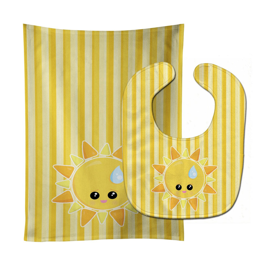 Buy this Weather Sun Sprinkle Face Baby Bib & Burp Cloth BB7150STBU