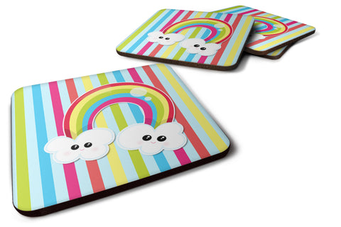 Buy this Weather Rainbow Face Foam Coaster Set of 4 BB7151FC