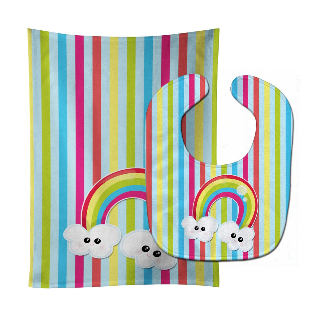 Buy this Weather Rainbow Face Baby Bib & Burp Cloth BB7151STBU