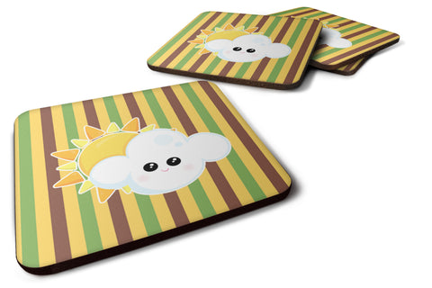 Buy this Weather Partly Cloudy Face Foam Coaster Set of 4 BB7152FC