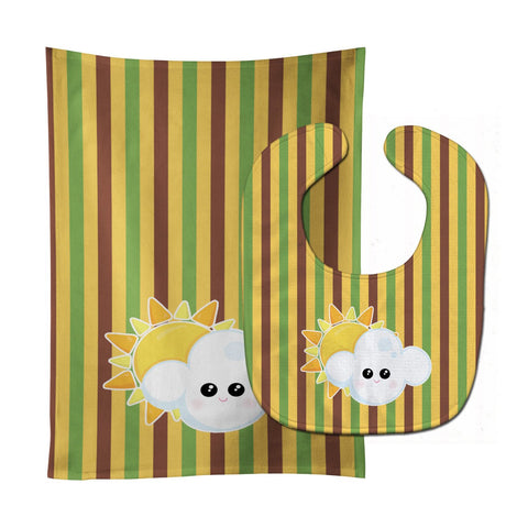 Buy this Weather Partly Cloudy Face Baby Bib & Burp Cloth BB7152STBU