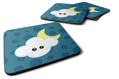 Buy this Weather Cloudy Moon Face Foam Coaster Set of 4 BB7154FC