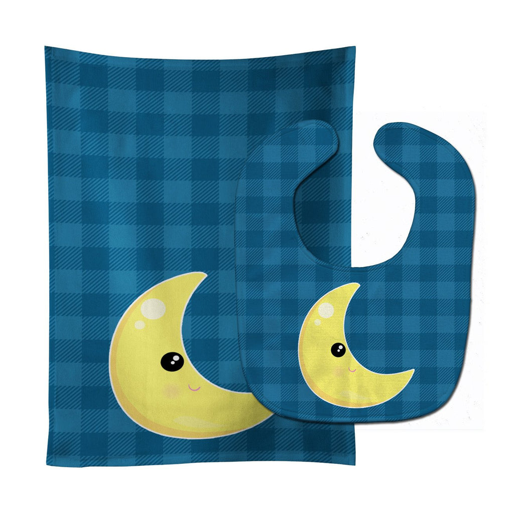 Buy this Weather Moon Face Baby Bib & Burp Cloth BB7156STBU