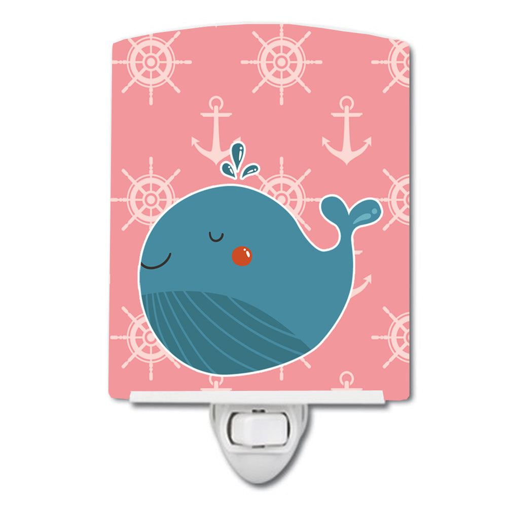 Buy this Whale on Pink Nautical Ceramic Night Light BB7160CNL