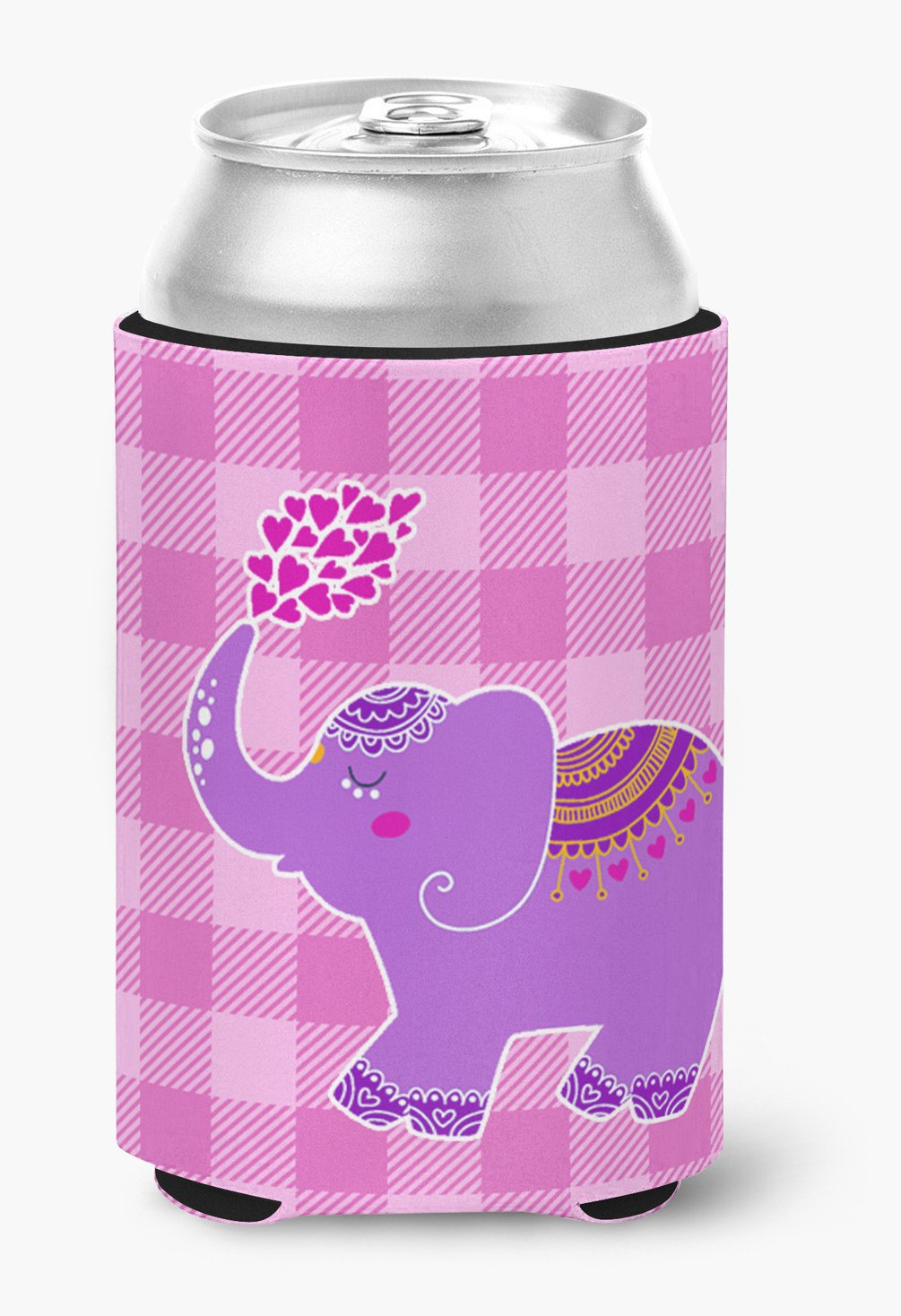 Purple Elephant Can or Bottle Hugger BB7161CC by Caroline's Treasures